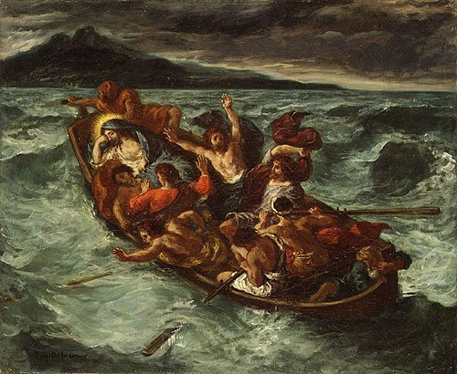 Christ Asleep during the Tempest | Eugene Delacroix | Oil Painting