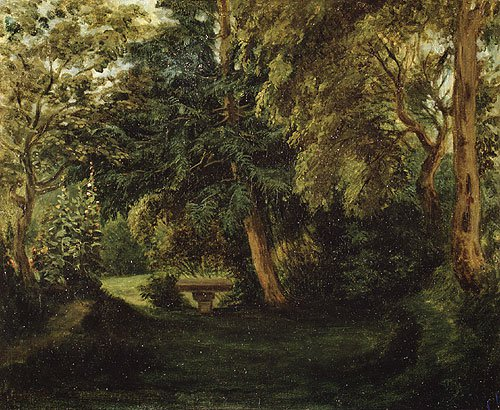 George Sands Garden at Nohant ca 1840s | Eugene Delacroix | Oil Painting