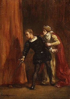 Hamlet and His Mother | Eugene Delacroix | Oil Painting