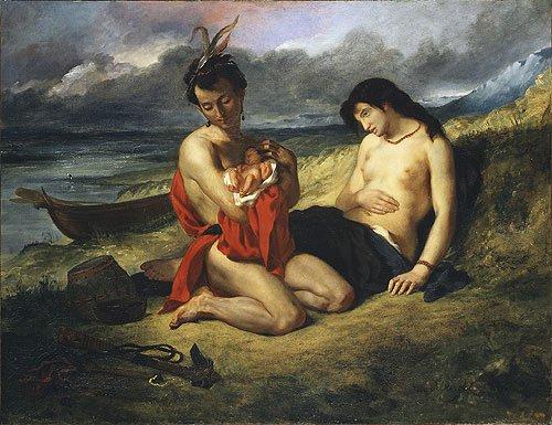 The Natchez | Eugene Delacroix | Oil Painting