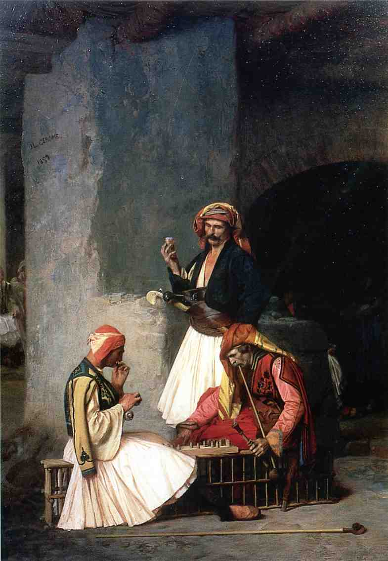 Arnauts Playing Chess 1859   Jean Leon Gerome   Oil Painting