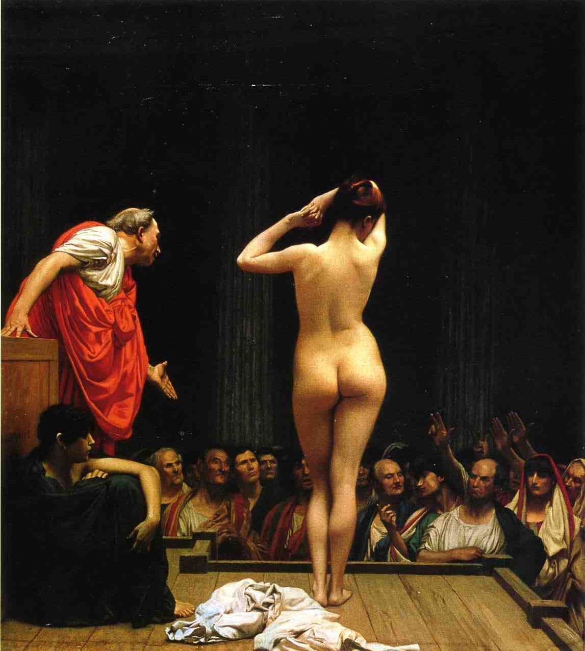Selling Slaves in Rome 1886 | Jean Leon Gerome | Oil Painting