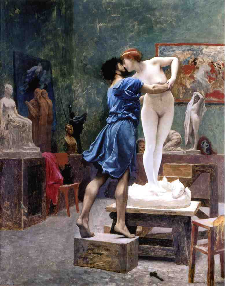 Pygmalion and Galatea study 1890 | Jean Leon Gerome | Oil Painting