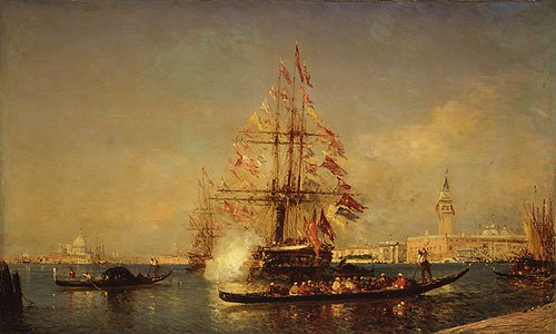 Venetian Scene | Feix Francis Georges Philibert Ziem | Oil Painting