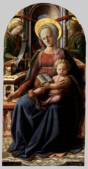 Madonna and Child Enthroned with Two Angels | Fra Filippo Lippi | Oil Painting