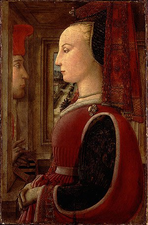 Portrait of a Woman and a Man at a Casement ca 1440 | Fra Filippo Lippi | Oil Painting