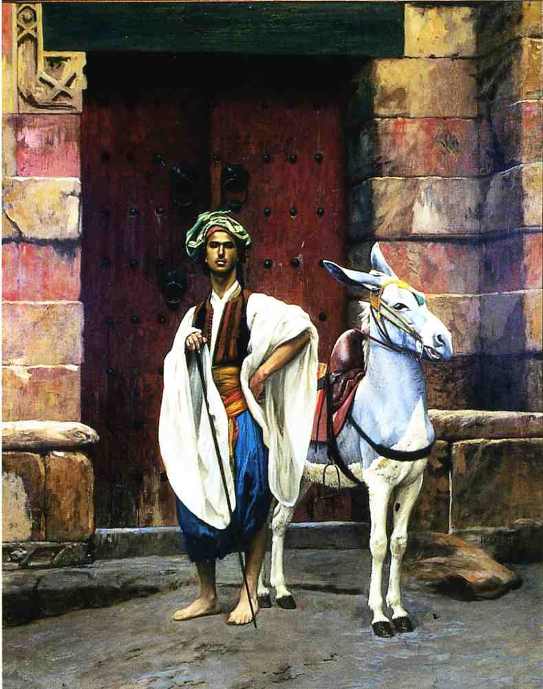 Sais and His Donkey | Jean Leon Gerome | Oil Painting