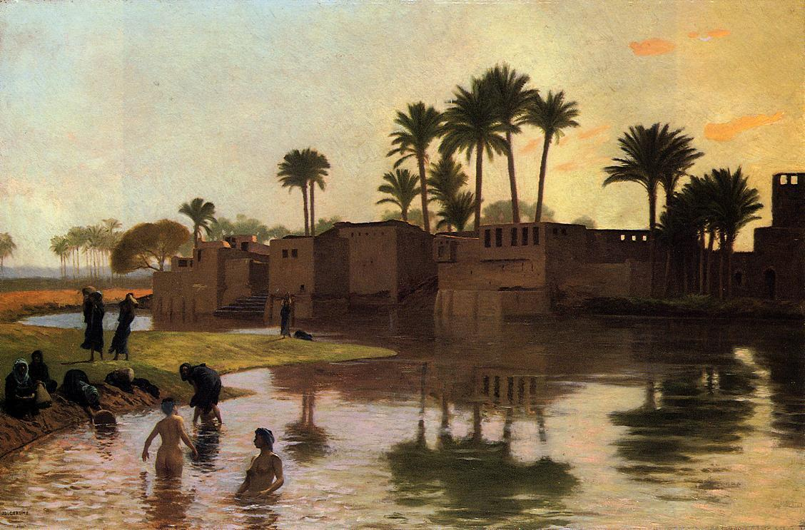 Bathers by the Edge of a River 1893 | Jean Leon Gerome | Oil Painting
