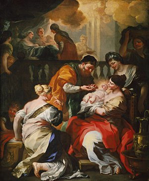 The Birth of the Virgin ca 1690 | Francesco Solimena | Oil Painting