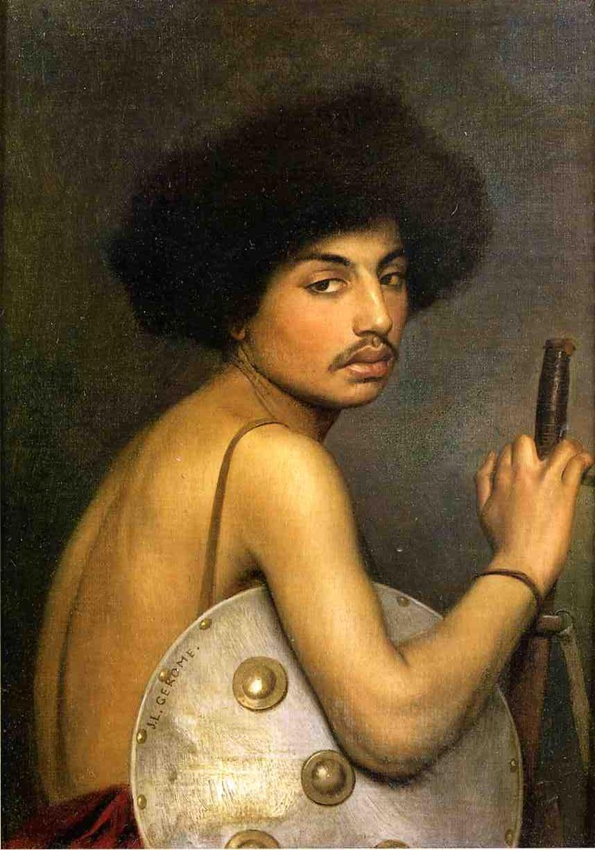 Bishari Bust of a Warrior 1872 | Jean Leon Gerome | Oil Painting