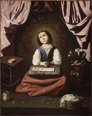 The Young Virgin ca 1632 | Francisco de Zurbaran | Oil Painting