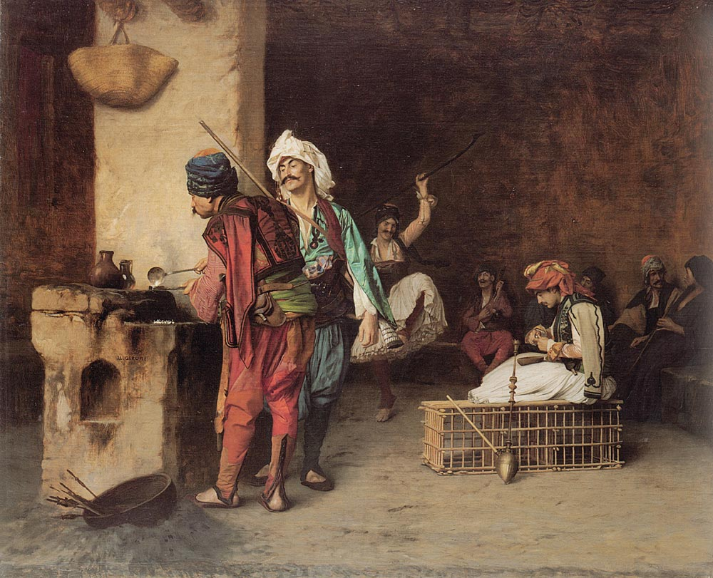 Cafe House Cairo aka Casting Bullets 1883 | Jean Leon Gerome | Oil Painting