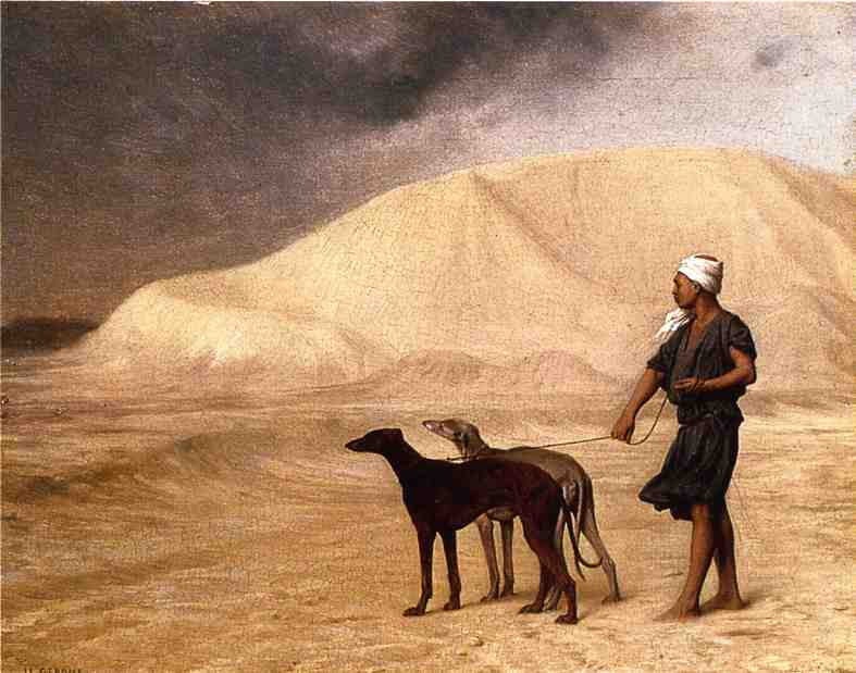 Team of Dogs in the Desert 1866 | Jean Leon Gerome | Oil Painting