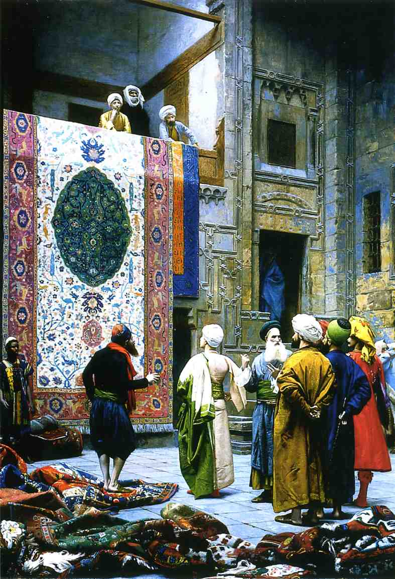Carpet Merchant in Cairo 1887 | Jean Leon Gerome | Oil Painting