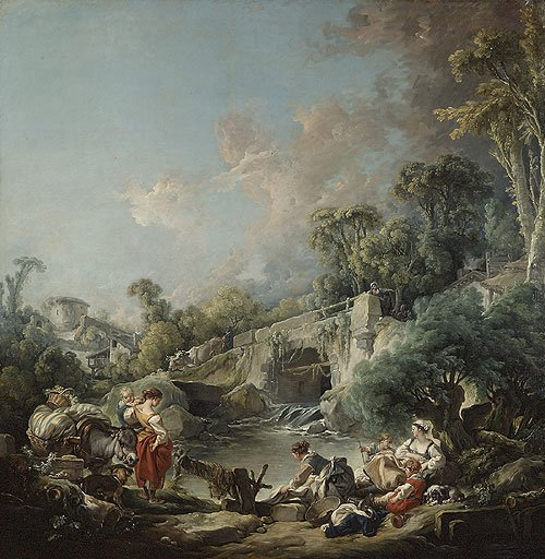 Washerwomen 1768 | Francois Boucher | Oil Painting