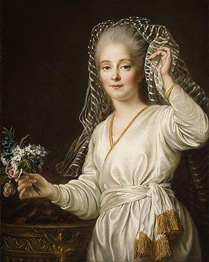 Portrait of a Young Woman as a Vestal Virgin 1767 | Francois Hubert Drouais | Oil Painting