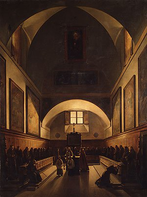 The Choir of the Capuchin Church in Rome 1815 | Francois Marius Granet | Oil Painting