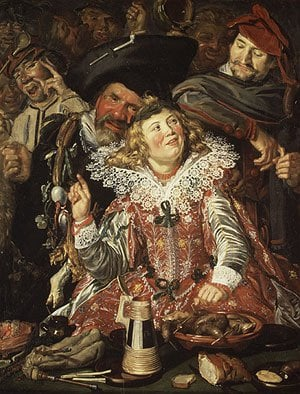 Merrymakers at Shrovetide ca 1615 | Frans Hals | Oil Painting