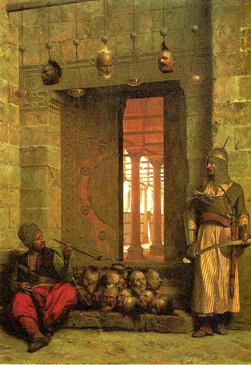 The Door of the El Hassanein Mosque in Cairo 1866 | Jean Leon Gerome | Oil Painting
