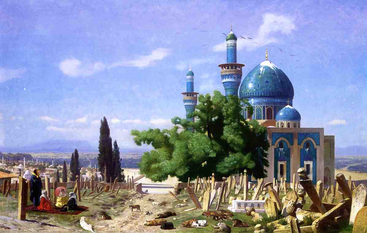 Cemetery Gone to Seed aka The Green Mosque 1876 | Jean Leon Gerome | Oil Painting