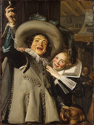 Young Man and Woman in an Inn | Frans Hals | Oil Painting