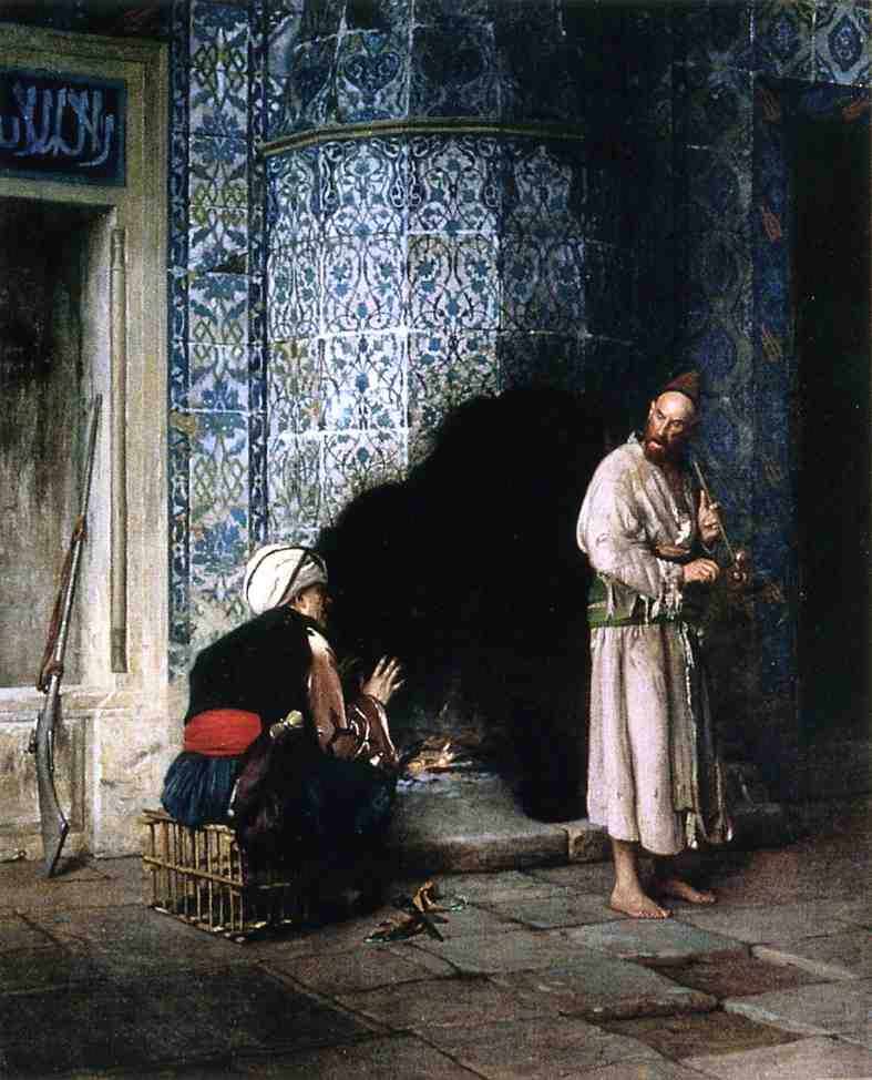Conversation by the Fire 1881 | Jean Leon Gerome | Oil Painting
