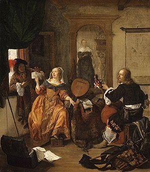 A Musical Party 1659 | Gabri Metsu | Oil Painting