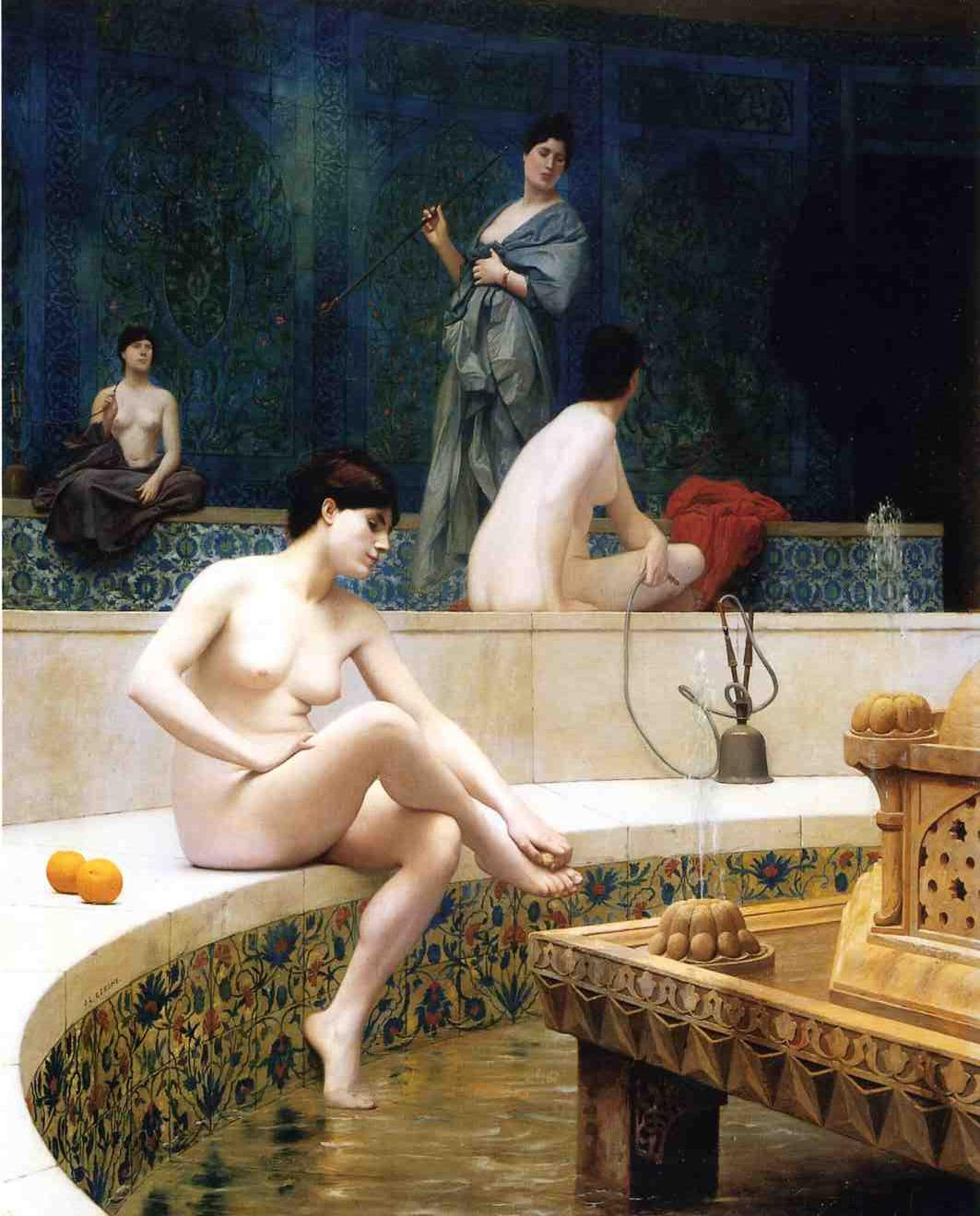 The Harem Bathing 1901 | Jean Leon Gerome | Oil Painting