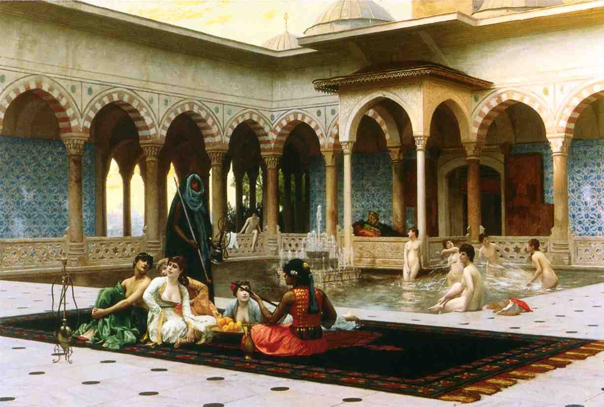 The Harem on the Terrace 1886 | Jean Leon Gerome | Oil Painting