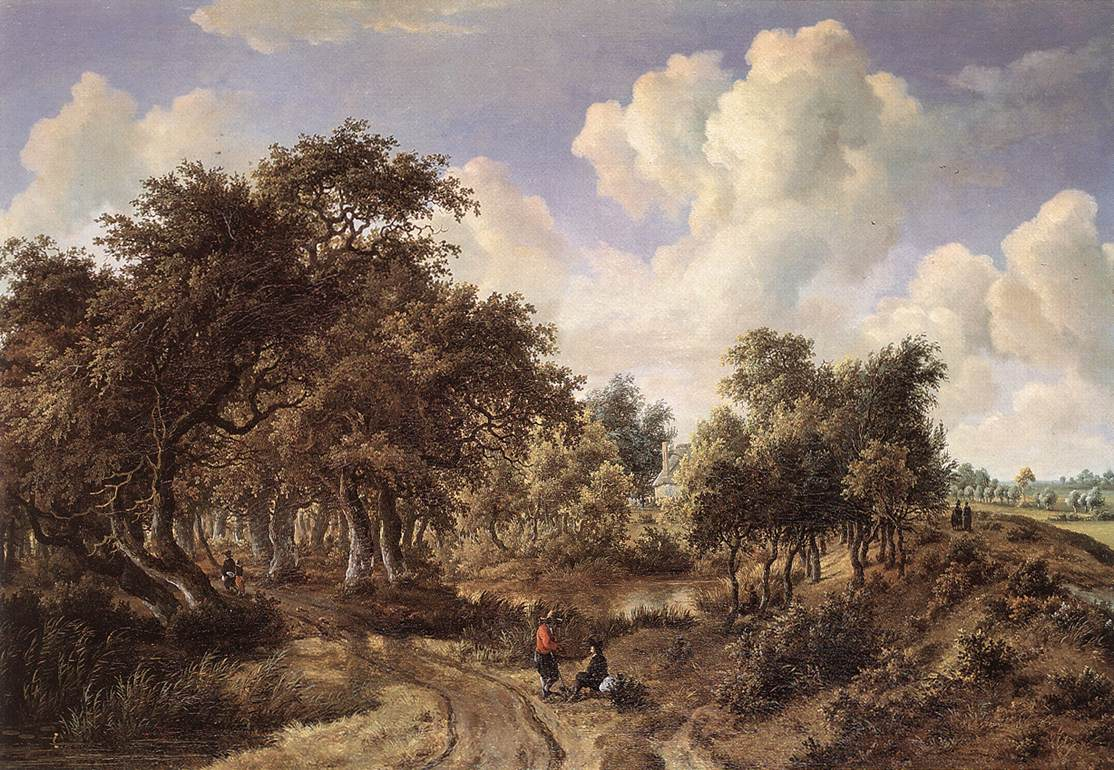 A Wooded Landscape 1660-65 | Meyndert Hobbema | Oil Painting