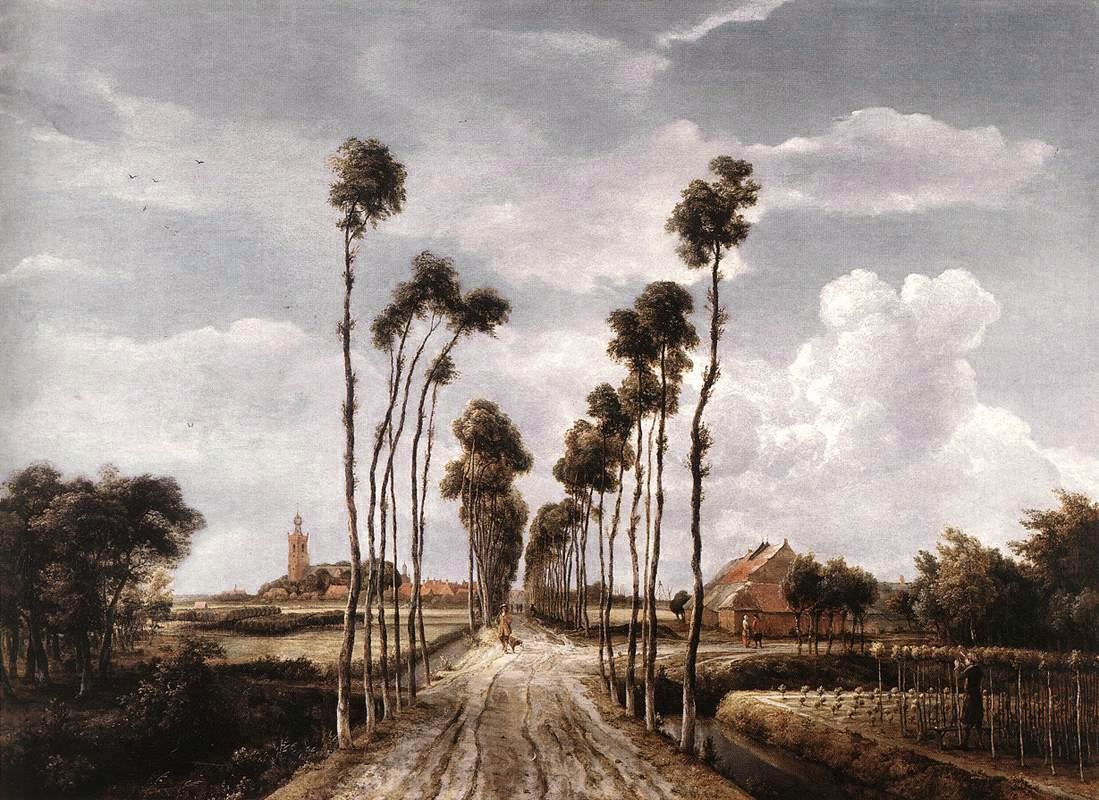 The Alley At Middelharnis 1689 | Meyndert Hobbema | Oil Painting