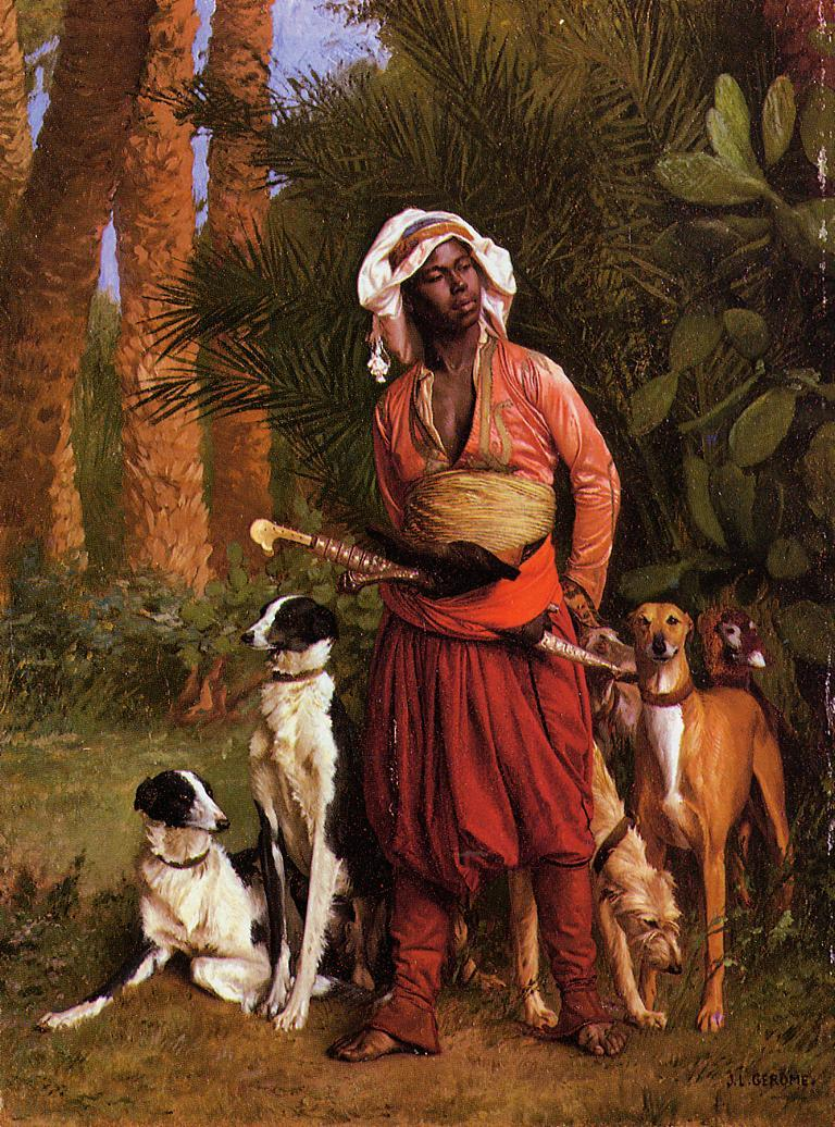 The Negro Master of the Hounds | Jean Leon Gerome | Oil Painting