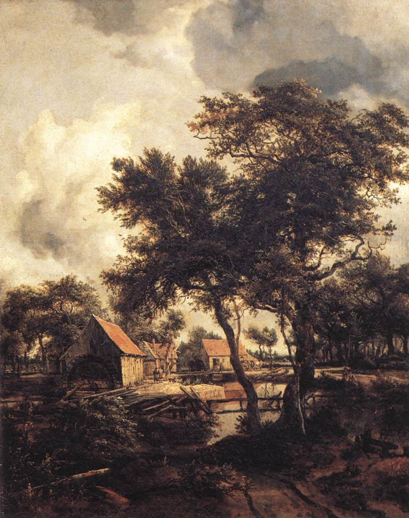 The Water Mill 1660s | Meyndert Hobbema | Oil Painting