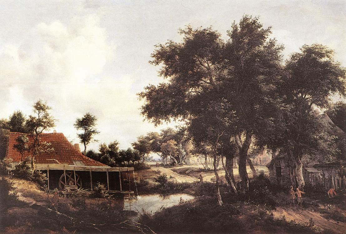 The Water Mill 1663-68 | Meyndert Hobbema | Oil Painting