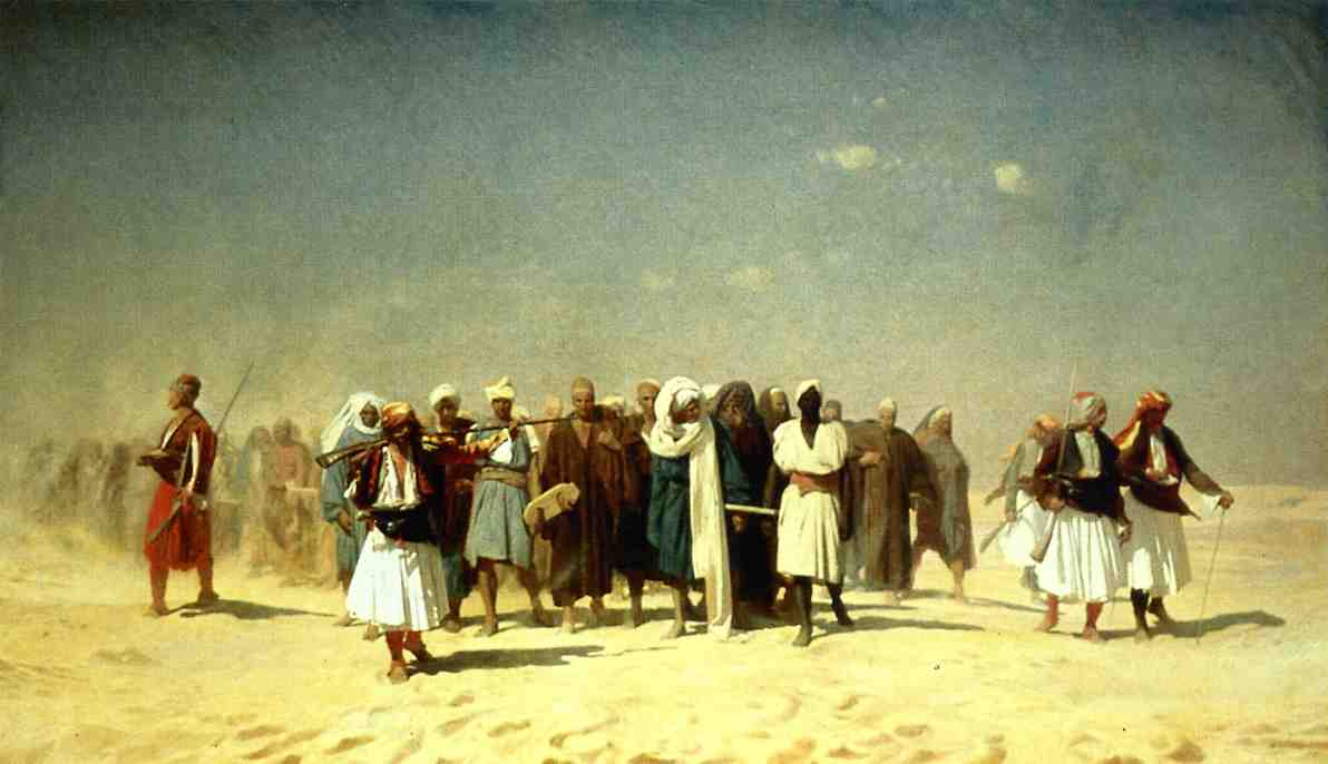 Egyptian Recruits Crossing the Desert 1859 | Jean Leon Gerome | Oil Painting