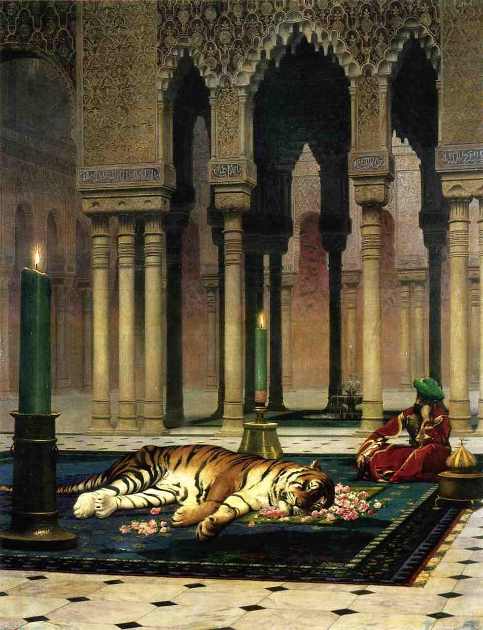 The Pasha's Sorrow aka Dead Tiger 1885 | Jean Leon Gerome | Oil Painting