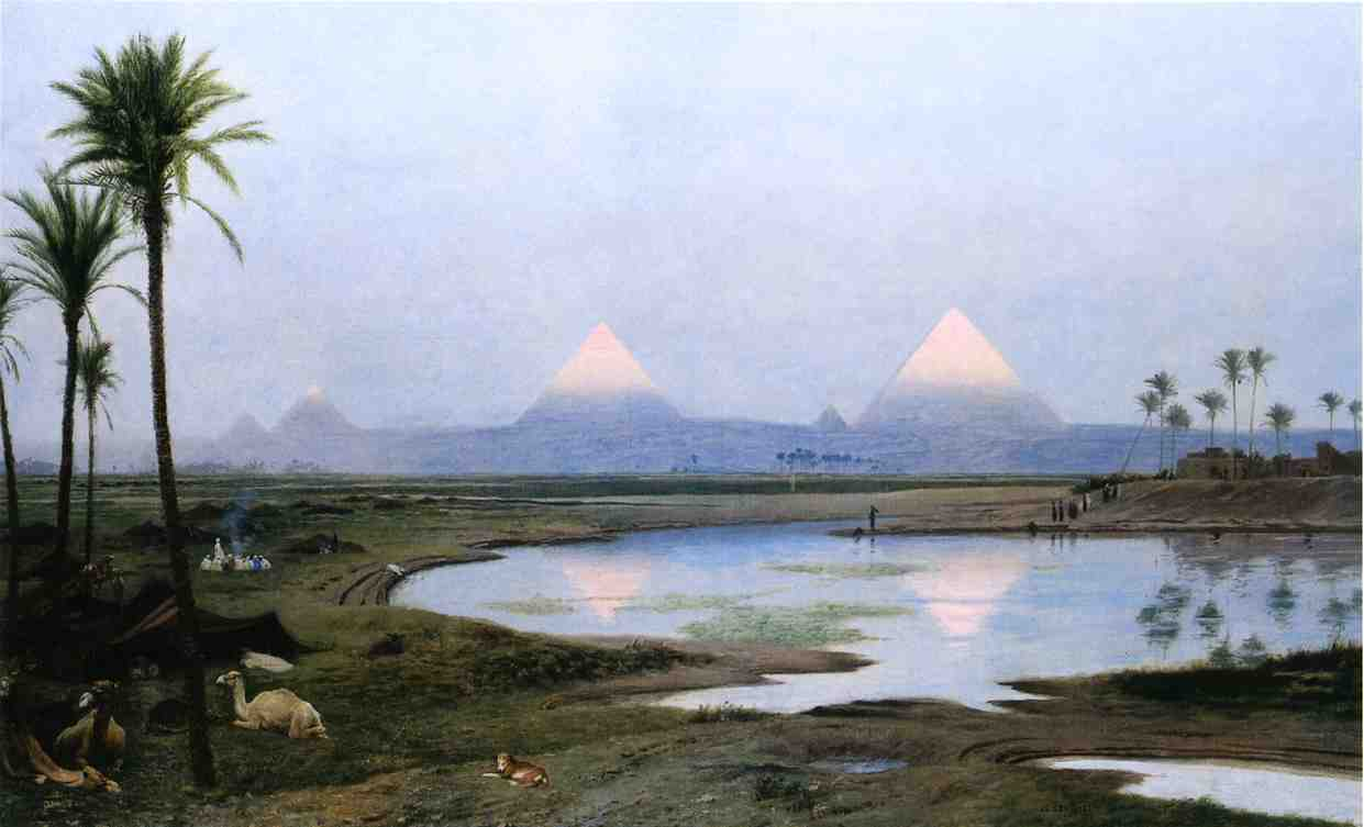 The Pyramids Sunrise 1895 | Jean Leon Gerome | Oil Painting