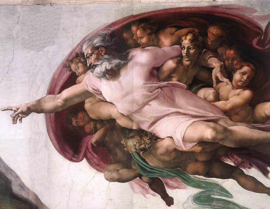 Creation Of Adam(Detail-3) 1510 Cappella Sistina Vatican | Michaelangelo | Oil Painting