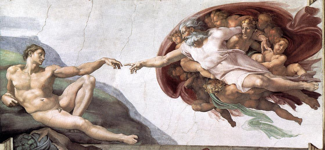 Creation Of Adam 1510 Cappella Sistina Vatican | Michaelangelo | Oil Painting