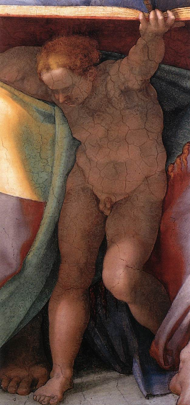 Daniel (Detail) 2 1511 | Michaelangelo | Oil Painting