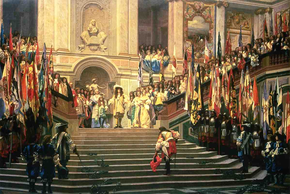 The Reception for Prince Conde at Versailles 1878 | Jean Leon Gerome | Oil Painting