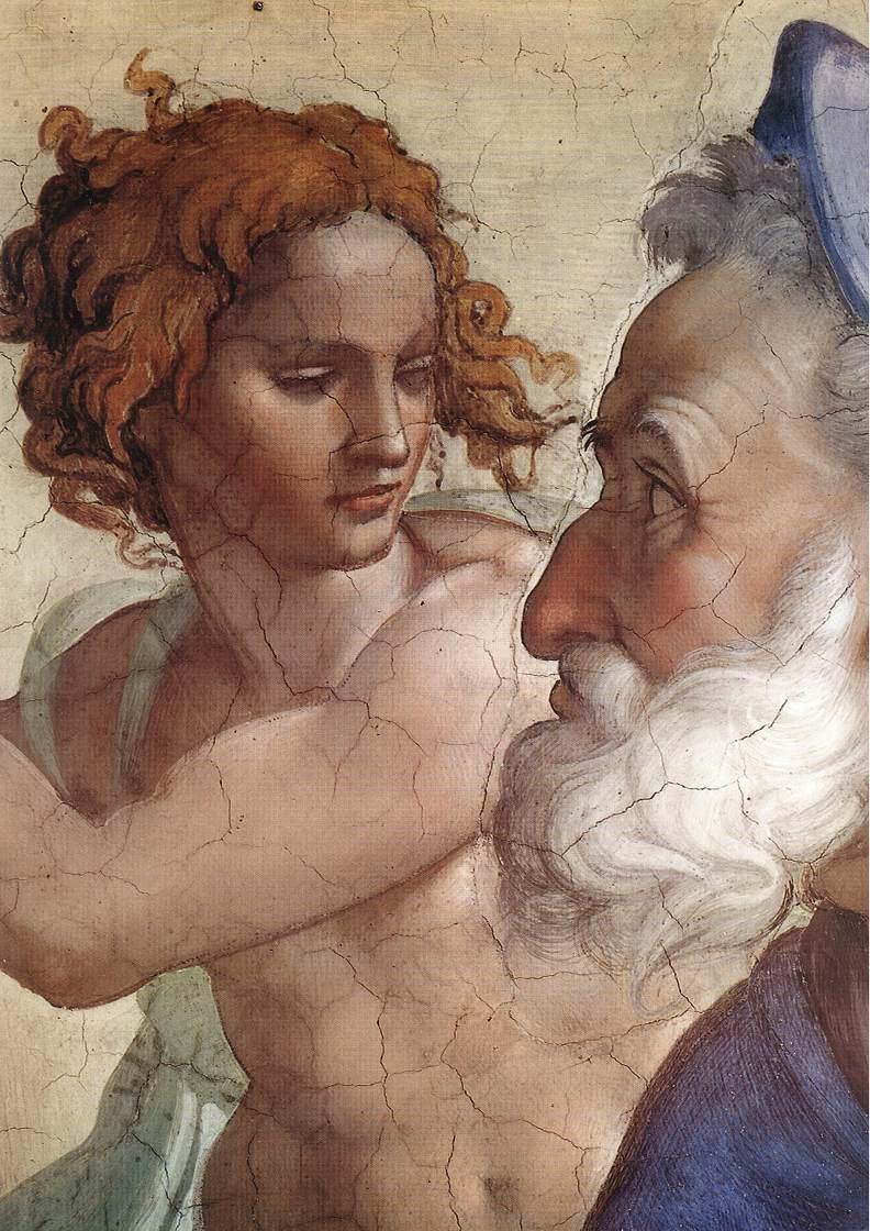 Ezekiel (Detail) 2 1510 | Michaelangelo | Oil Painting