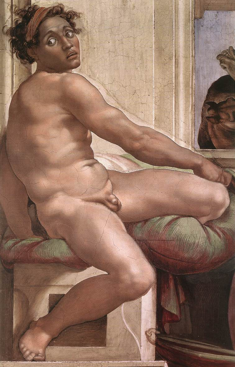 Ignudo 6 1509 | Michaelangelo | Oil Painting