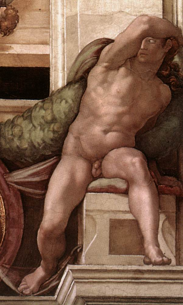 Ignudo 8 1509 | Michaelangelo | Oil Painting