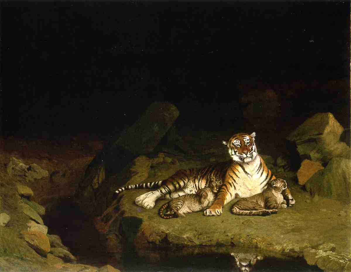 Tigress and Her Cubs 1895 | Jean Leon Gerome | Oil Painting