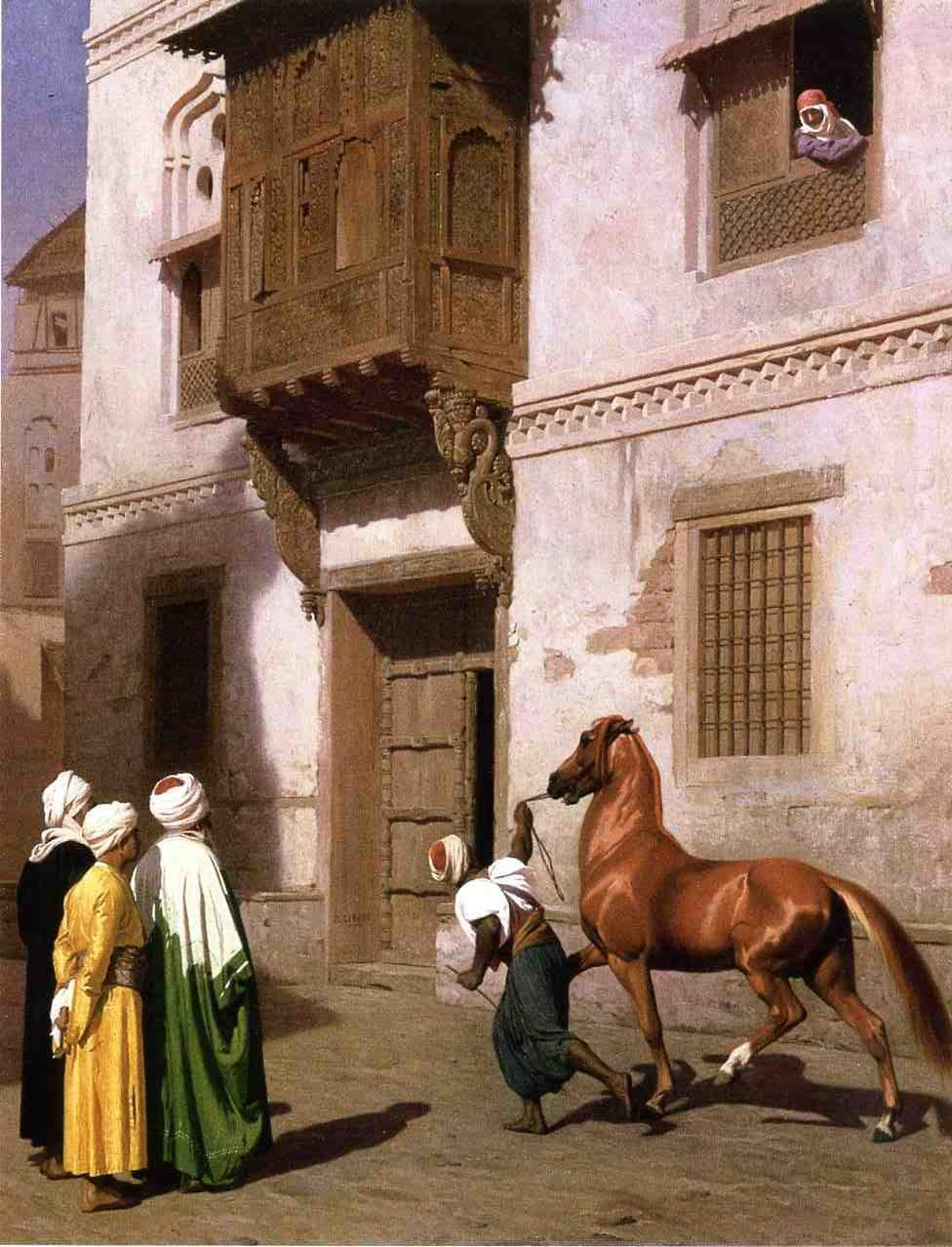 Horse Merchant in Cairo 1867 | Jean Leon Gerome | Oil Painting
