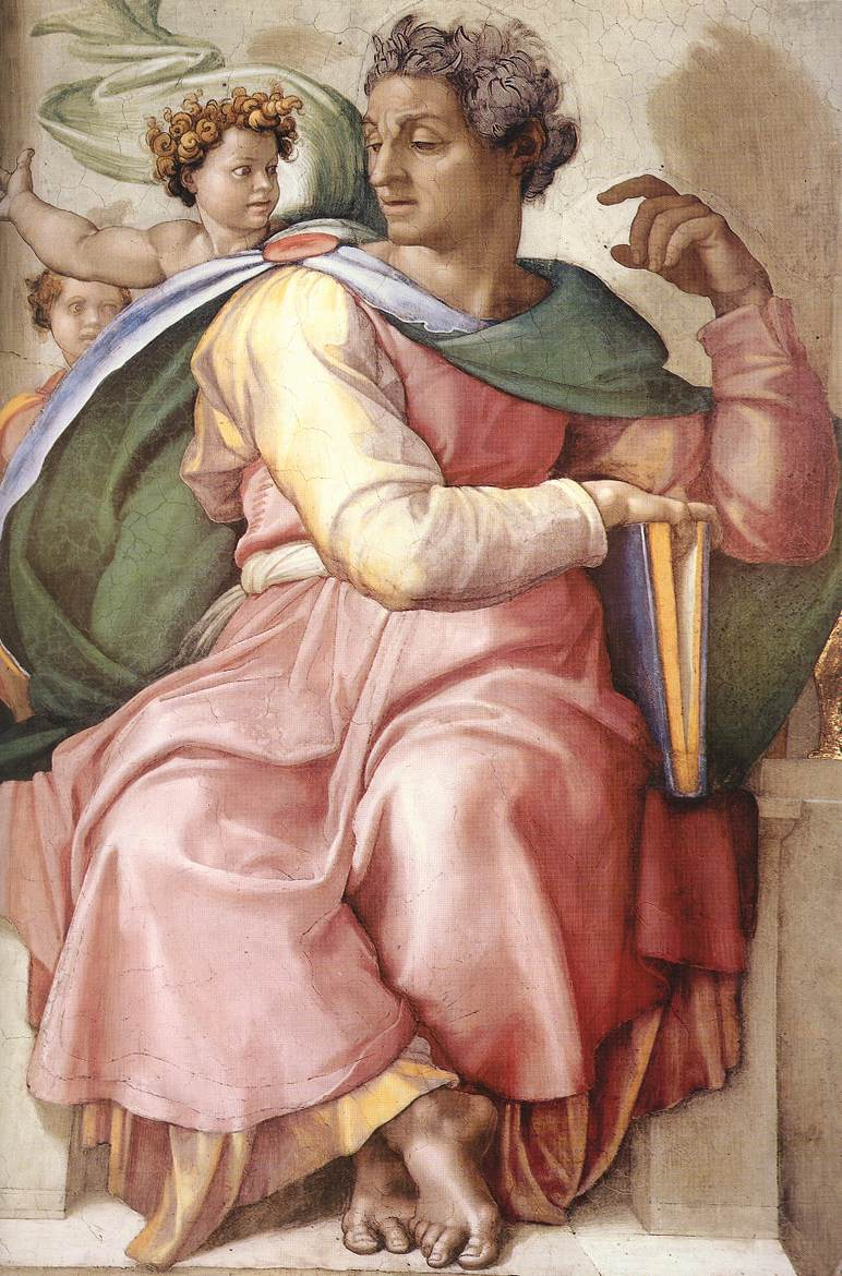 Isaiah (Detail) 1 1509 | Michaelangelo | Oil Painting