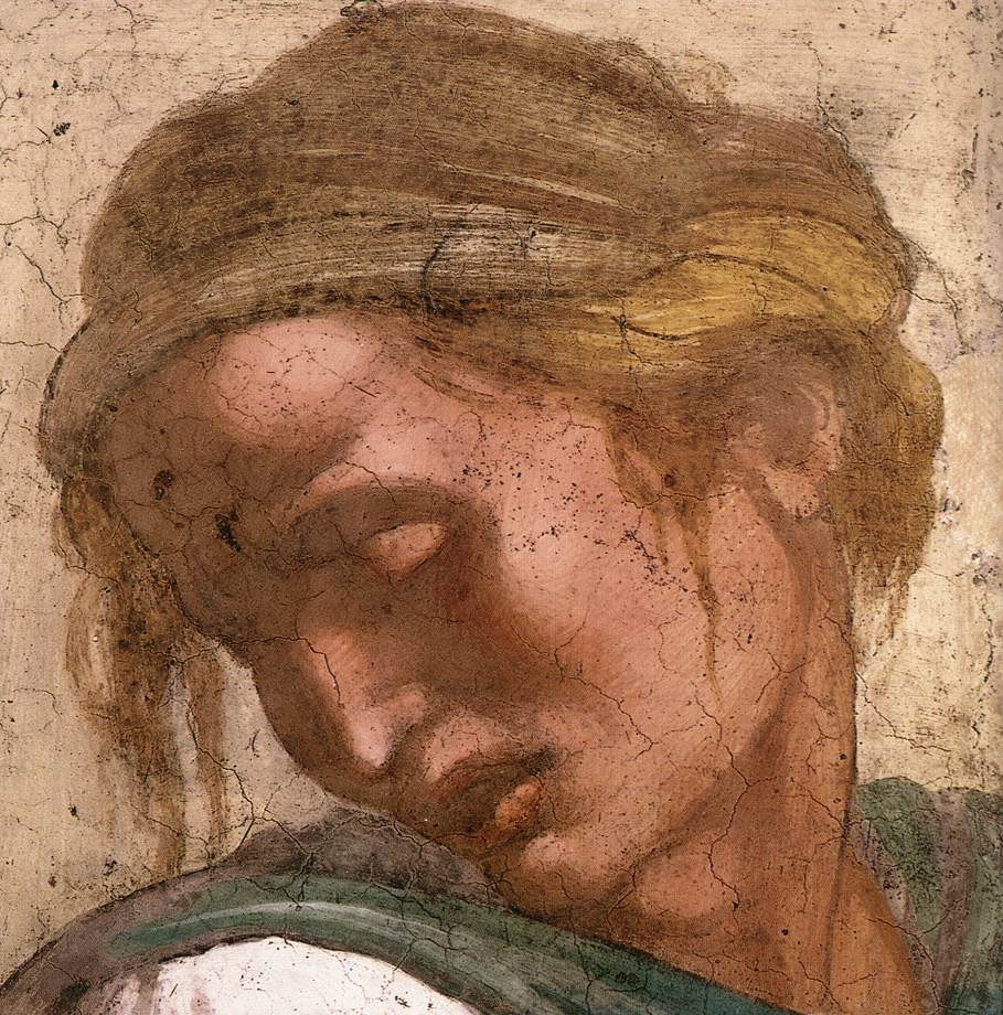 Jeremiah (Detail) 2 1511 | Michaelangelo | Oil Painting
