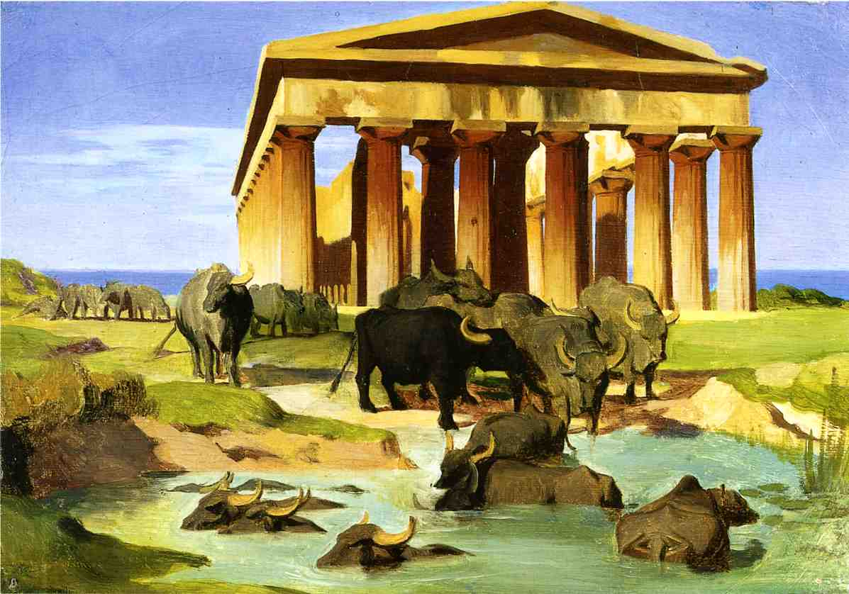 View of Paestum study 1847 | Jean Leon Gerome | Oil Painting