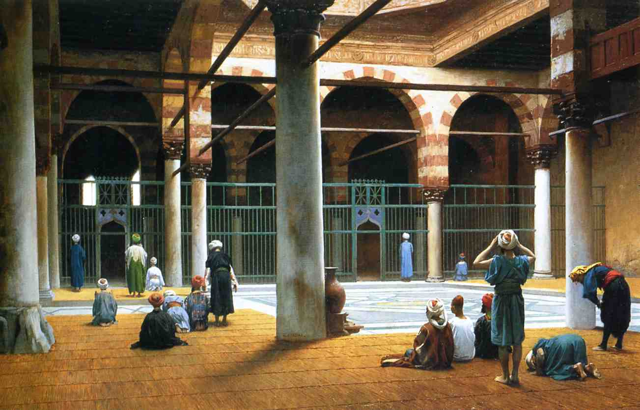 Interior of a Mosque 1875 | Jean Leon Gerome | Oil Painting